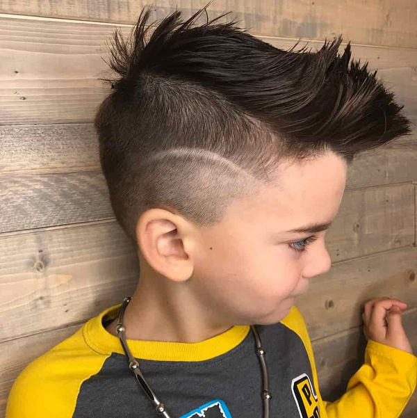 Undercut Faux Hawk For Boys 3