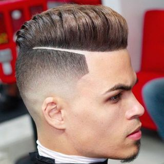 10 Textured Pompadour with Hard Part