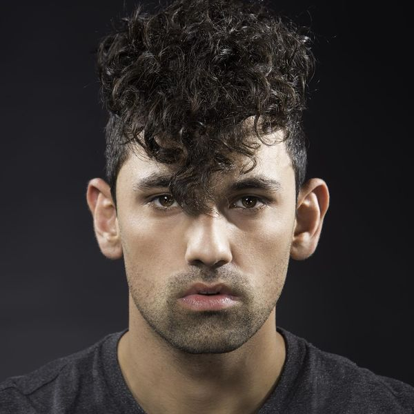 Curly and wide Mohawk