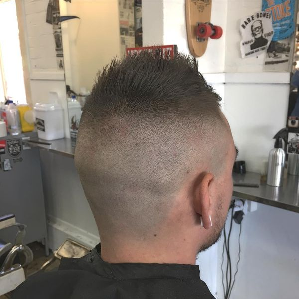 14 Faded sides with a hawk