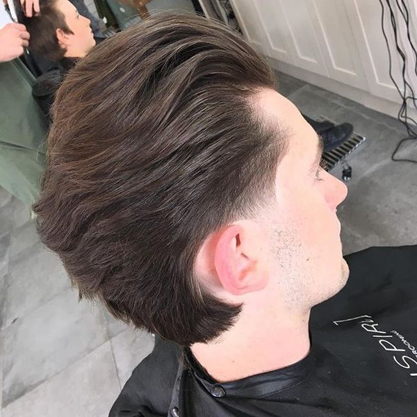 Mid-Length Hair Scissor Taper