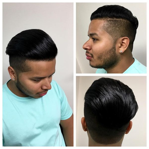 Long Comb Over Cut With Highly Faded Sides