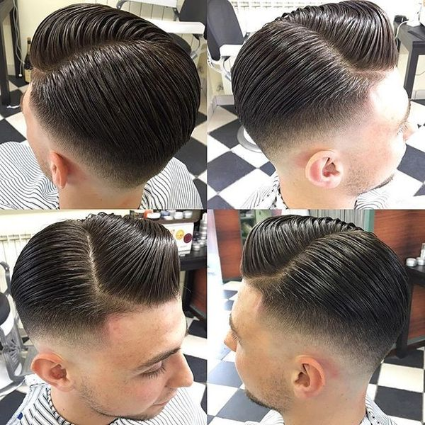 Greaser Hairstyle with Zigzag Parting