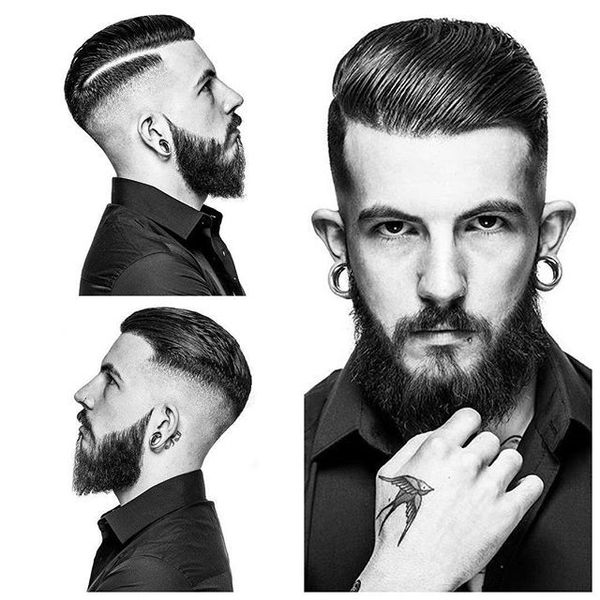 High Skin Fade with Hard Part