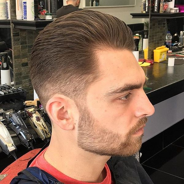 4 Textured Swept Back Cut