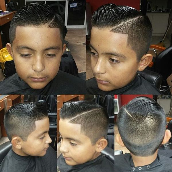 Classic Comb-Over With Sharp Angles