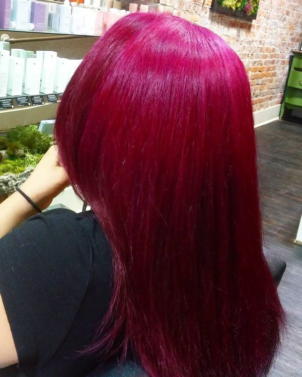 Magenta top with rich raspberry shade