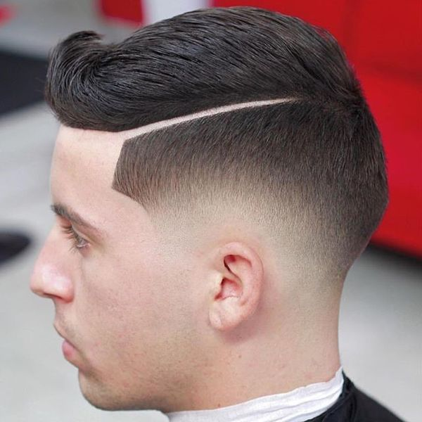 Sharp Fade with Upswept Quiff