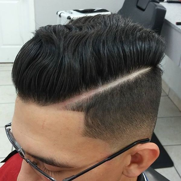Short Sides Long Top Hairstyle