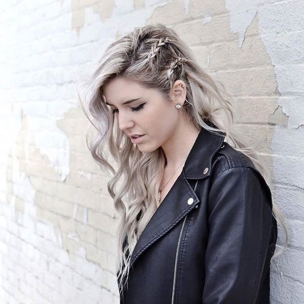 Super idea of braided side and loose hair