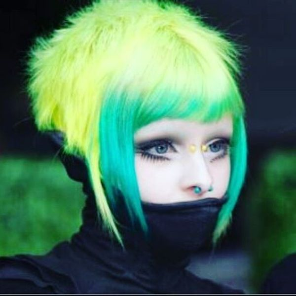 Crazy Fluffy Green Yellow0