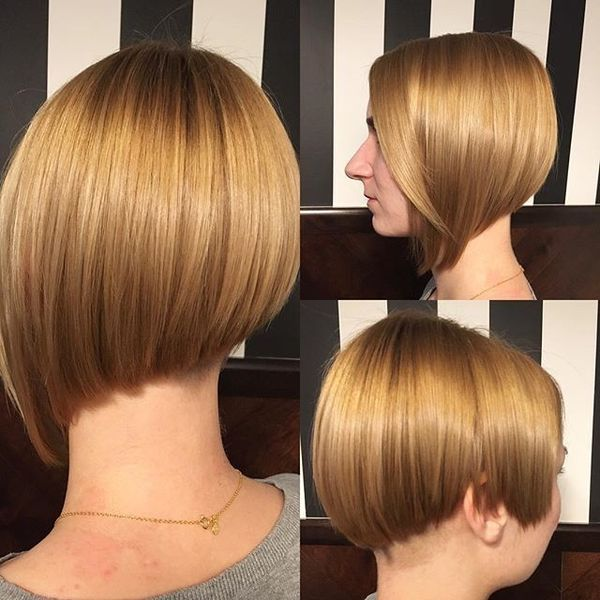 Elegant Silk Asymmetric Short Bob0