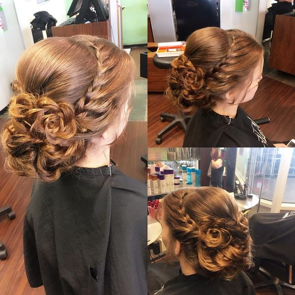 Elegant Updo with Braids & Twists