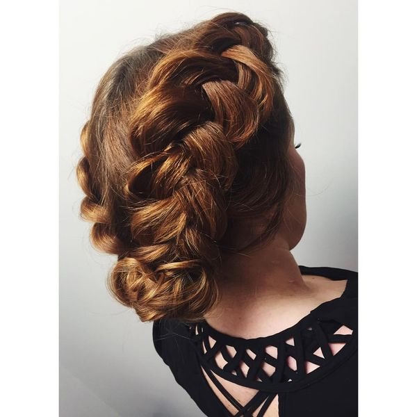 Excellent Double Braided Low Bun