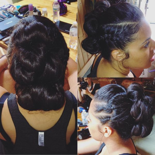 Fun Updo for Long Thick Hair