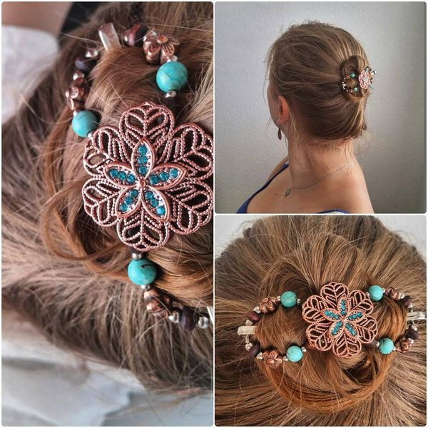 Glorious Bun with a Bright Accessory for Thin Hair
