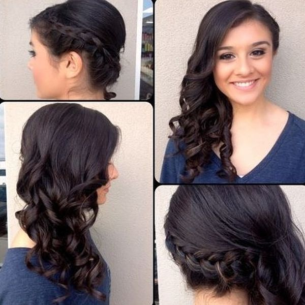 Gorgeous Side-Braided Curls