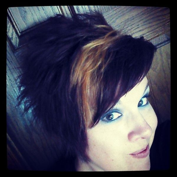Great Asymmetry with a Blonde Highlight0