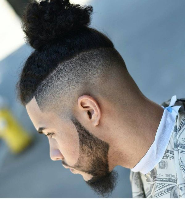 Hipster man bun and beard 2