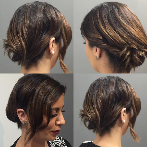 Casual Short Updos to Try if You Wear Bob 2