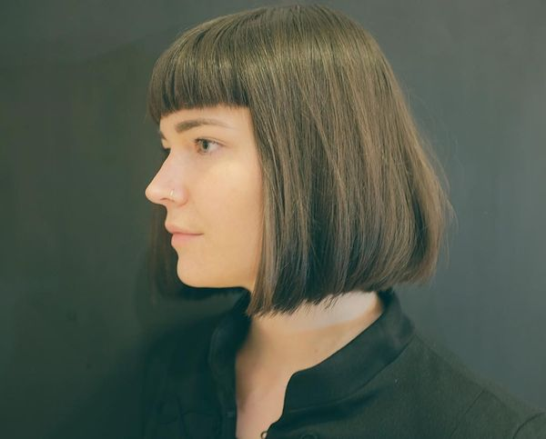 Medium Length Bob with a Fringe