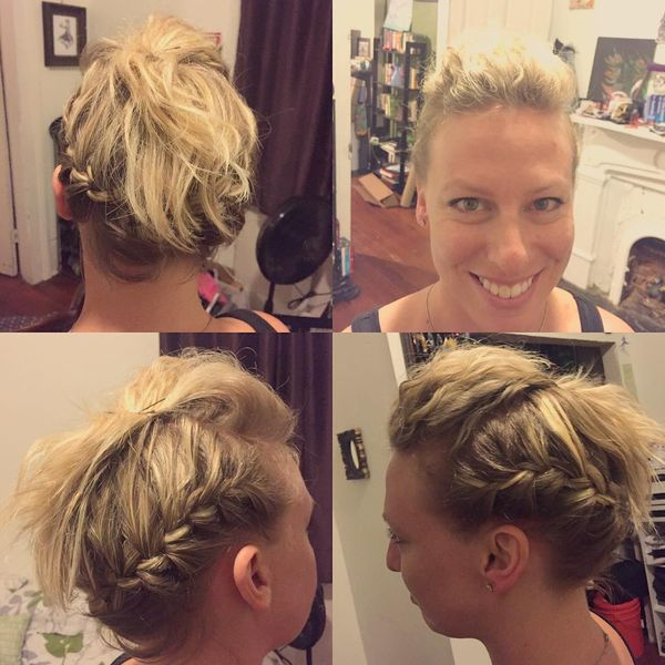 How about a Messy Updo for Short Hair? 1