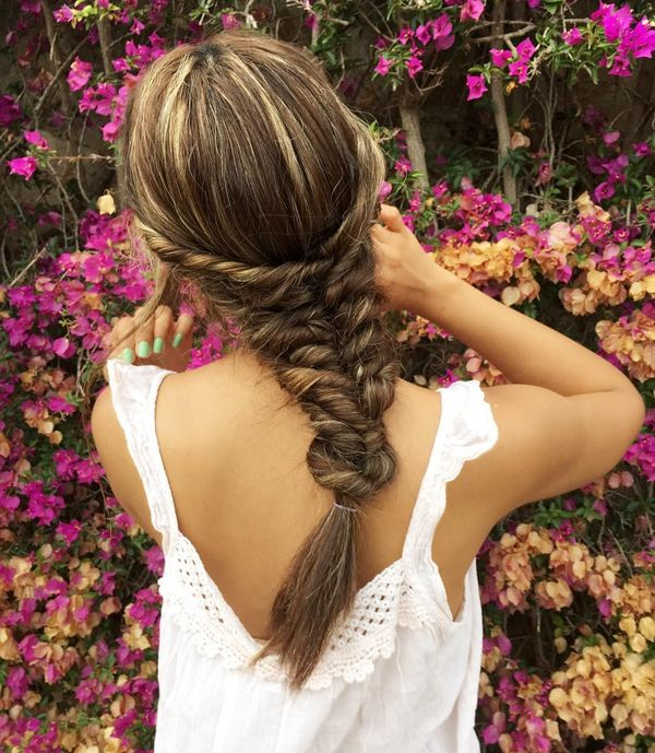 Romantic Twisted Fishtail for Long Hair