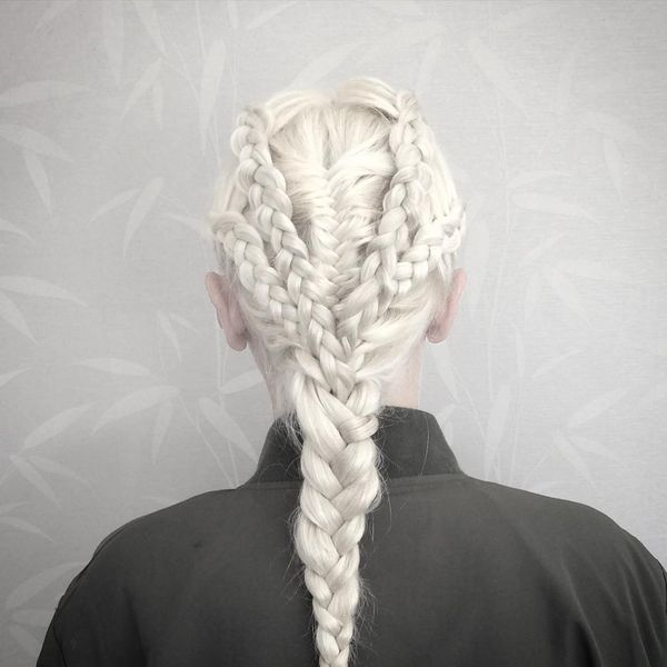 Splendid Cool-White Braids for the Unforgettable Look