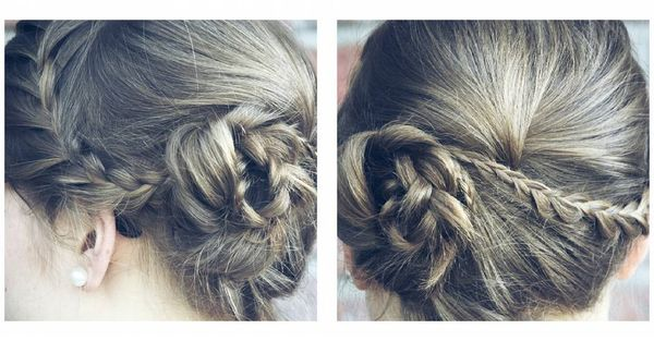 Striking Side Braided Bun