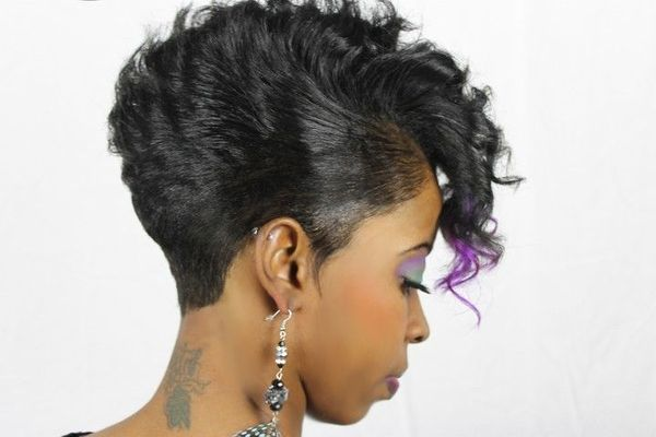 Female Short Curly Black Hair Styles 2