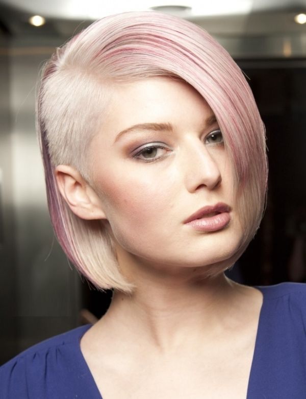 Creative Short Bobbed Hair Style with Undercut 2