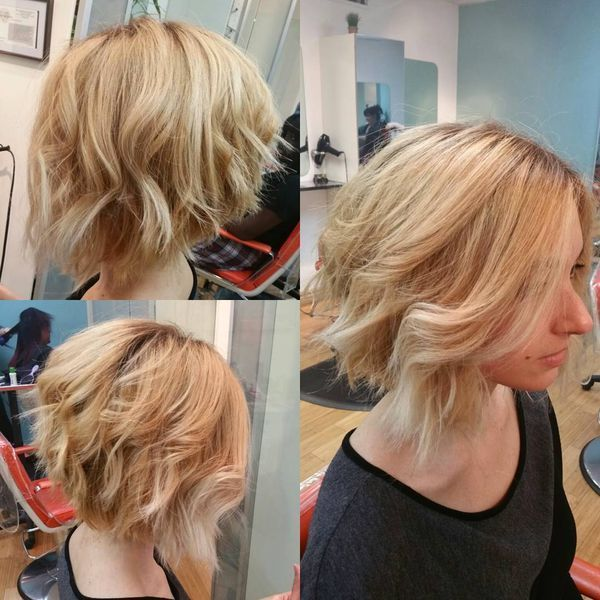 Curly and Wavy ALine Bob Hairstyles 3