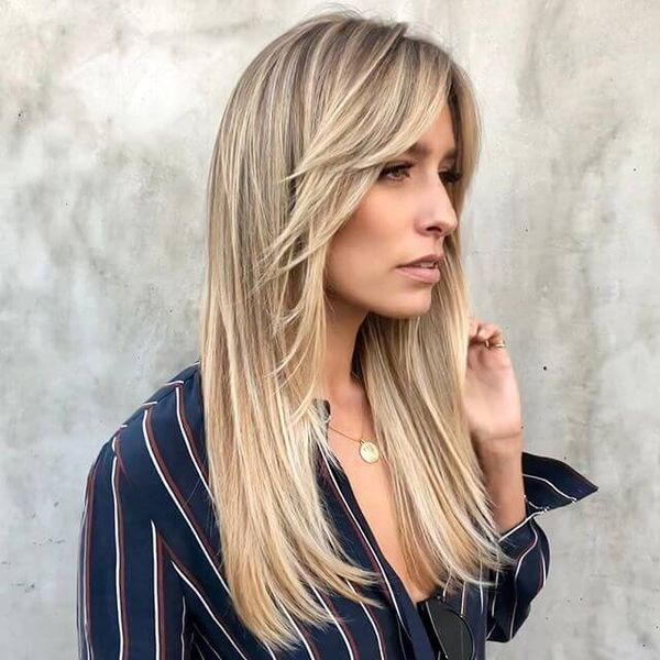 Cute long hairstyles with bangs and short layers 3