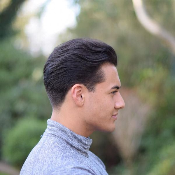 Mens Comb Over Taper Haircut Ideas 1