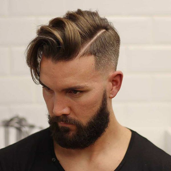Modern Long Comb Over Hairstyle 1