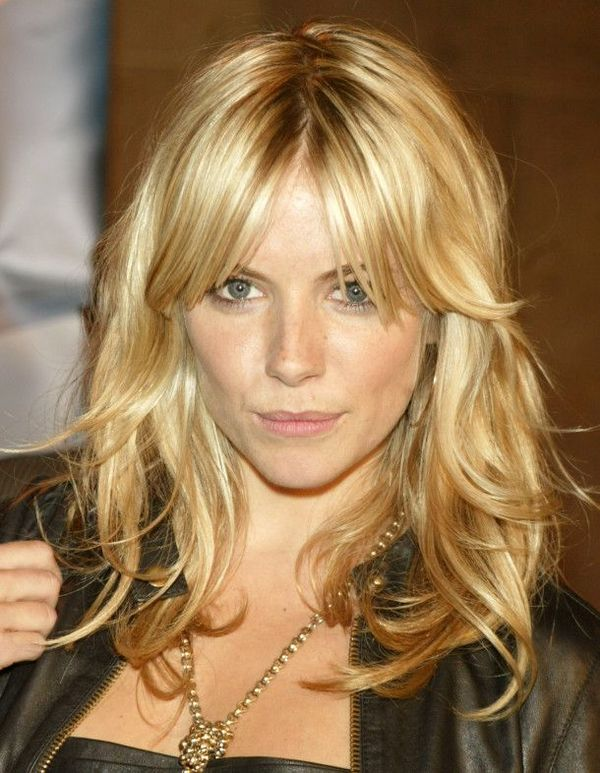 Styles of long blonde hair with layers and bangs 2