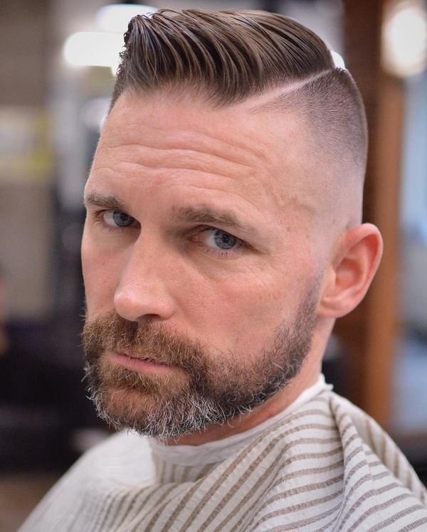 Cool mens side parted hair ideas 1