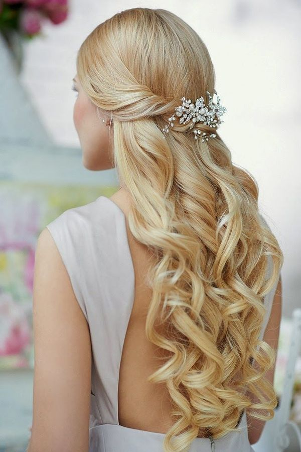 Amazing Half Up Half Down Wedding Hairstyles For Long Hair 2