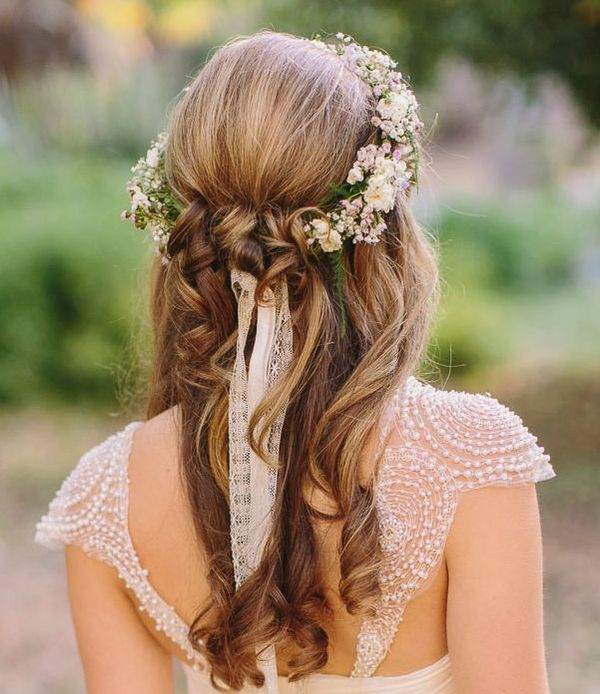 Amazing Half Up Half Down Wedding Hairstyles For Long Hair 3