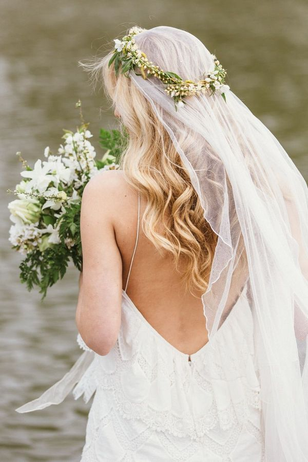 Beautiful Long Wedding Hairstyles With Veil 2