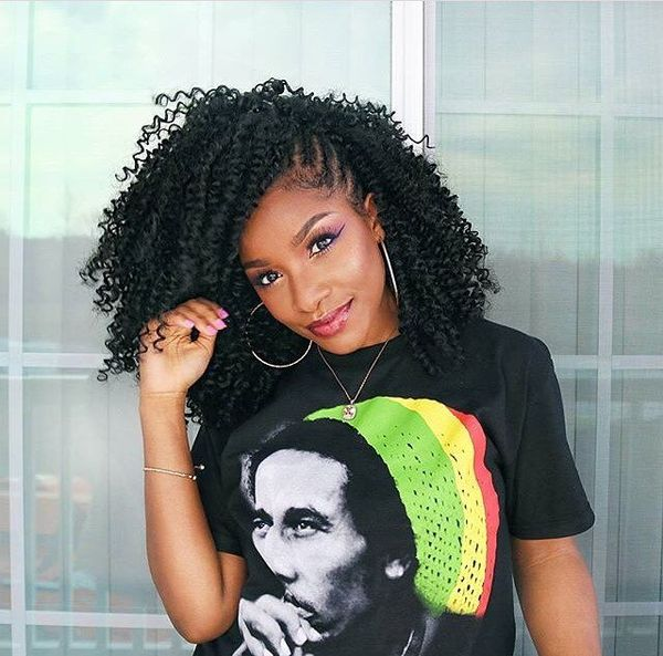 Cute Natural Hairstyles for Black Women with Long Hair 1