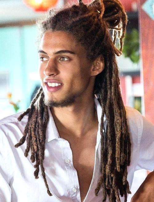 Dreadlocks Ponytail Hairstyle For Guys 3