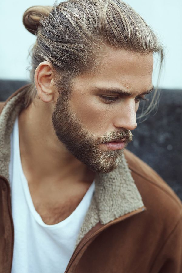 Blonde Man Bun and Ponytail 1