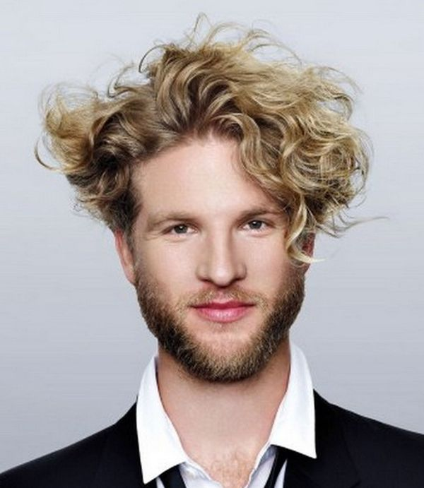 Blonde Hairstyles For Thick Curly Hair Men In 2019 Curly