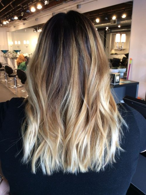 Cool Medium Brown Hair With Blonde Tips 1