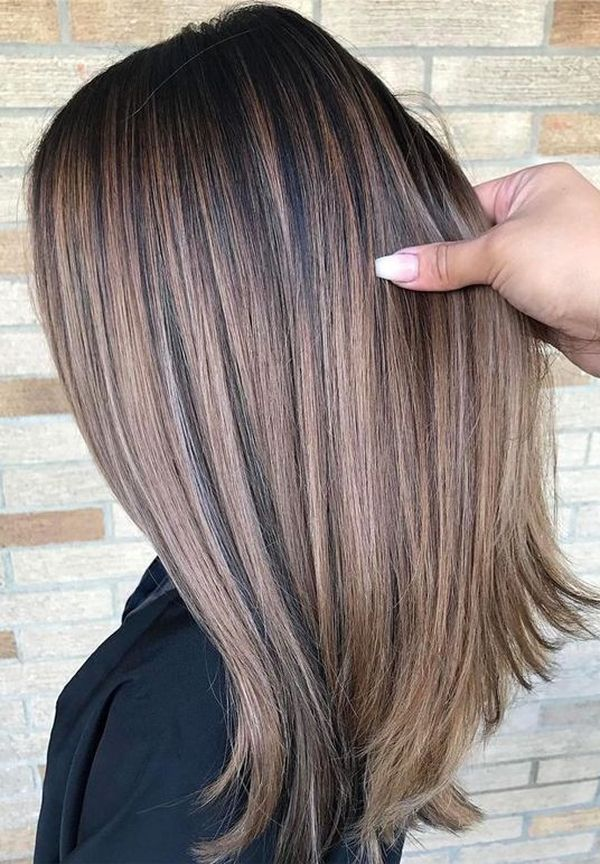 Balayage On Straight Brown Hair 2
