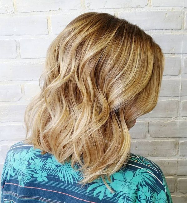 Beautiful wavy long bob hairstyles 4