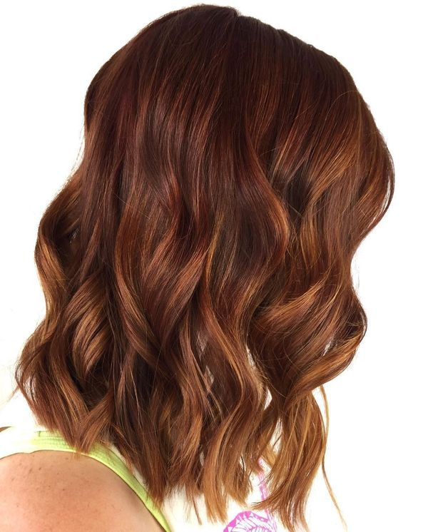 Brunette with Auburn Balayage 3
