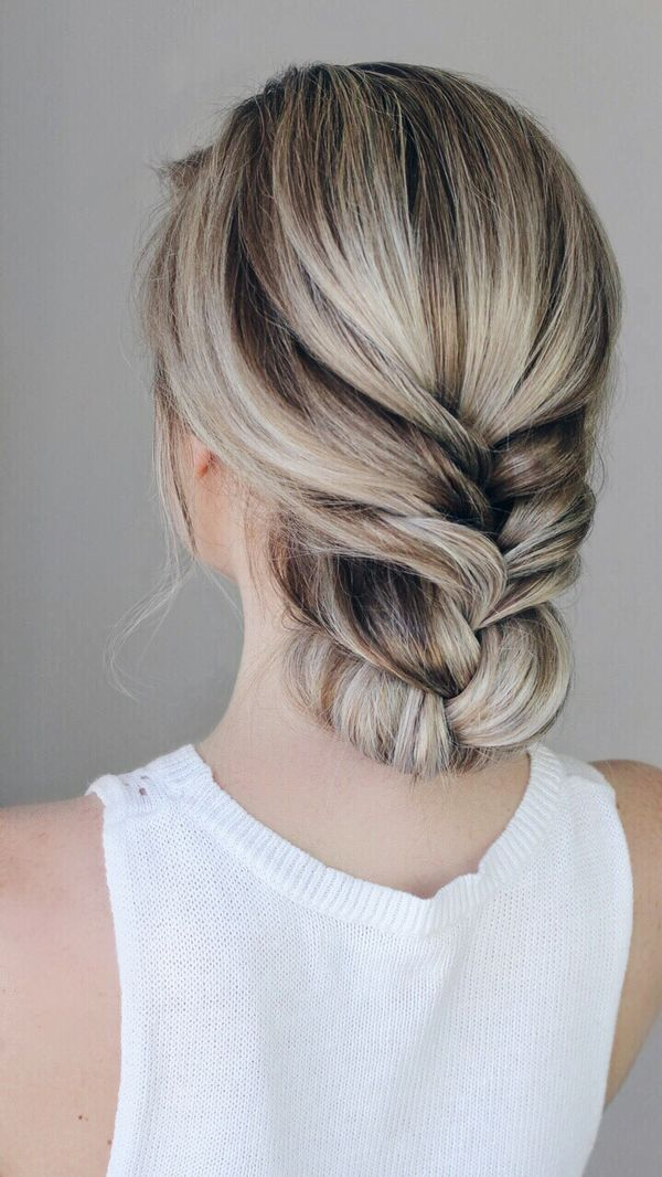 Casual prom up hairstyles for long hair 3