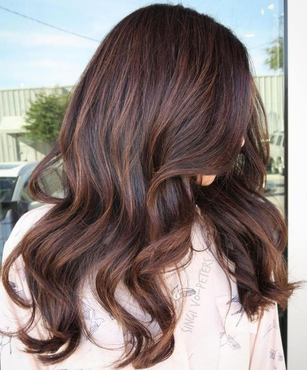 Chocolate brown hair with highlights 2